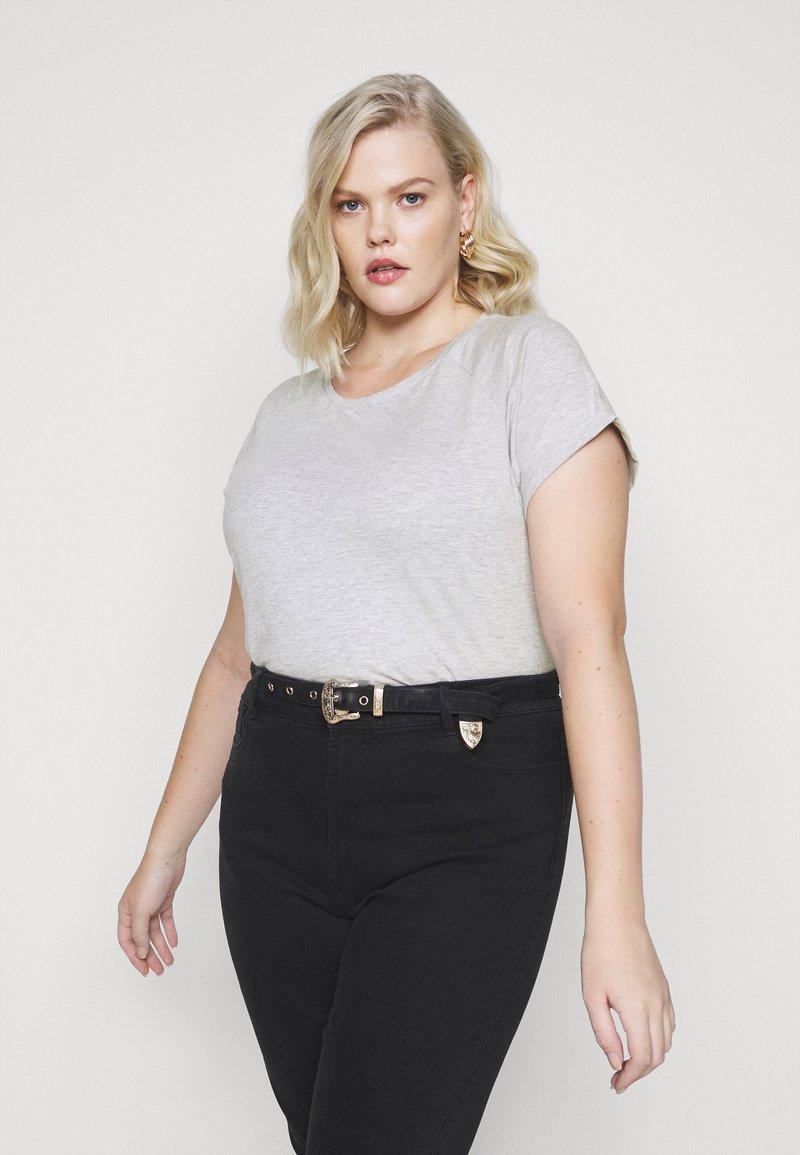 Anna Field - T-shirts - mottled light grey