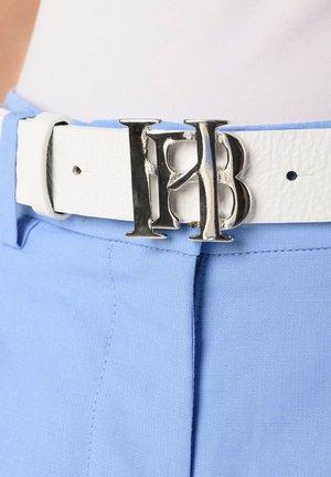 CINTURA IN PELLE CON FIBBIA HB - Belt - bianco