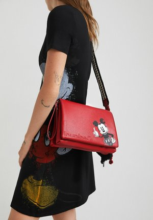 MICKEY MOUSE LEATHER EFFECT - Borsa a tracolla - red
