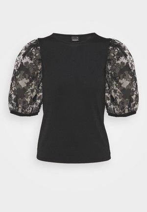 POLLY TOP - Print T-shirt - black