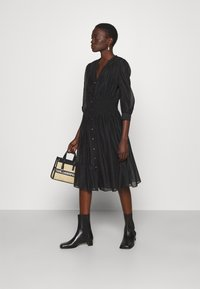 KARL LAGERFELD - DRESS SMOCKING WAIST - Day dress - black - 1