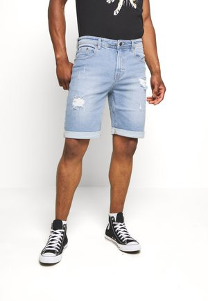 MR ORANGE - Shorts di jeans - light blue destroy