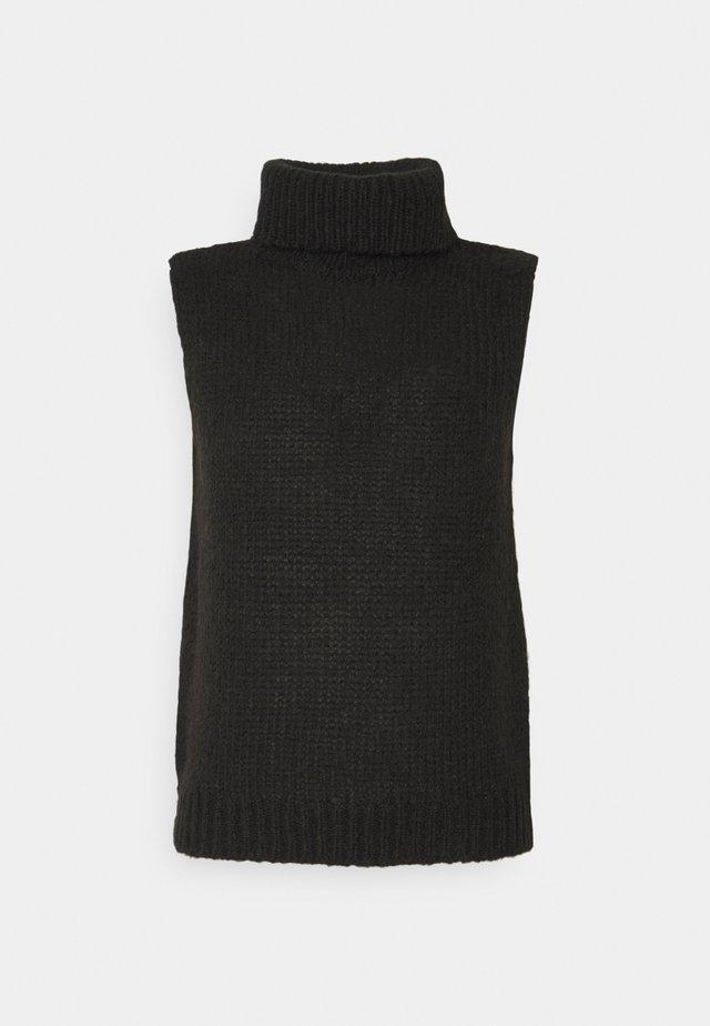 OBJPEYTON - Stickad tröja - black