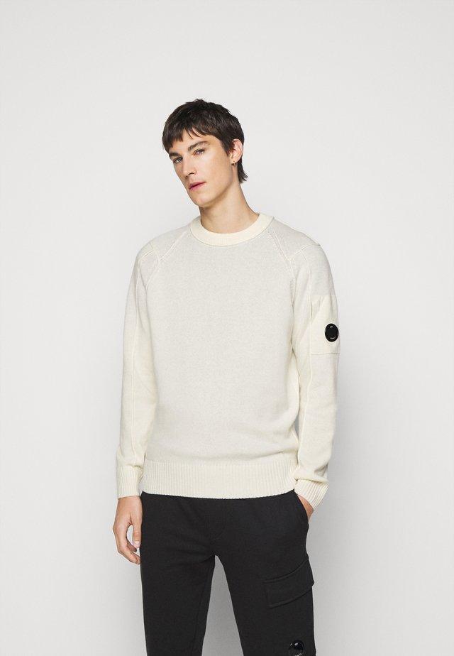CREW NECK - Pullover - gauze white