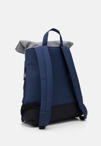 Enter - CITY FOLD TOP BACKPACK - Batoh - navy/black recycled base/grey top - 1