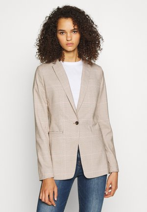 WARM PLAID - Blazer - brown global
