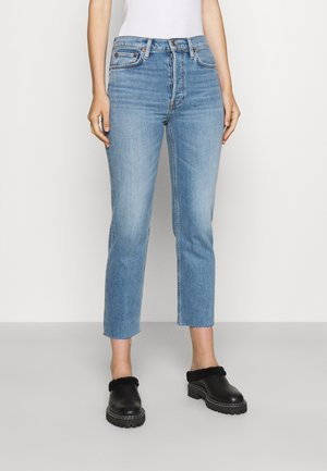 STOVE PIPE - Straight leg jeans - light stone