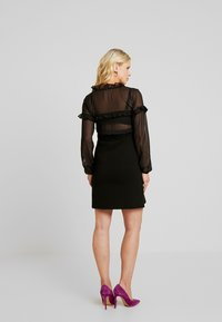 LOVE2WAIT - DRESS PONTE VOILE - Jerseykjoler - black - 2