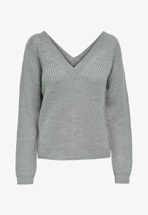 JDYLORI JUSTY V NECK - Jumper - light grey melange