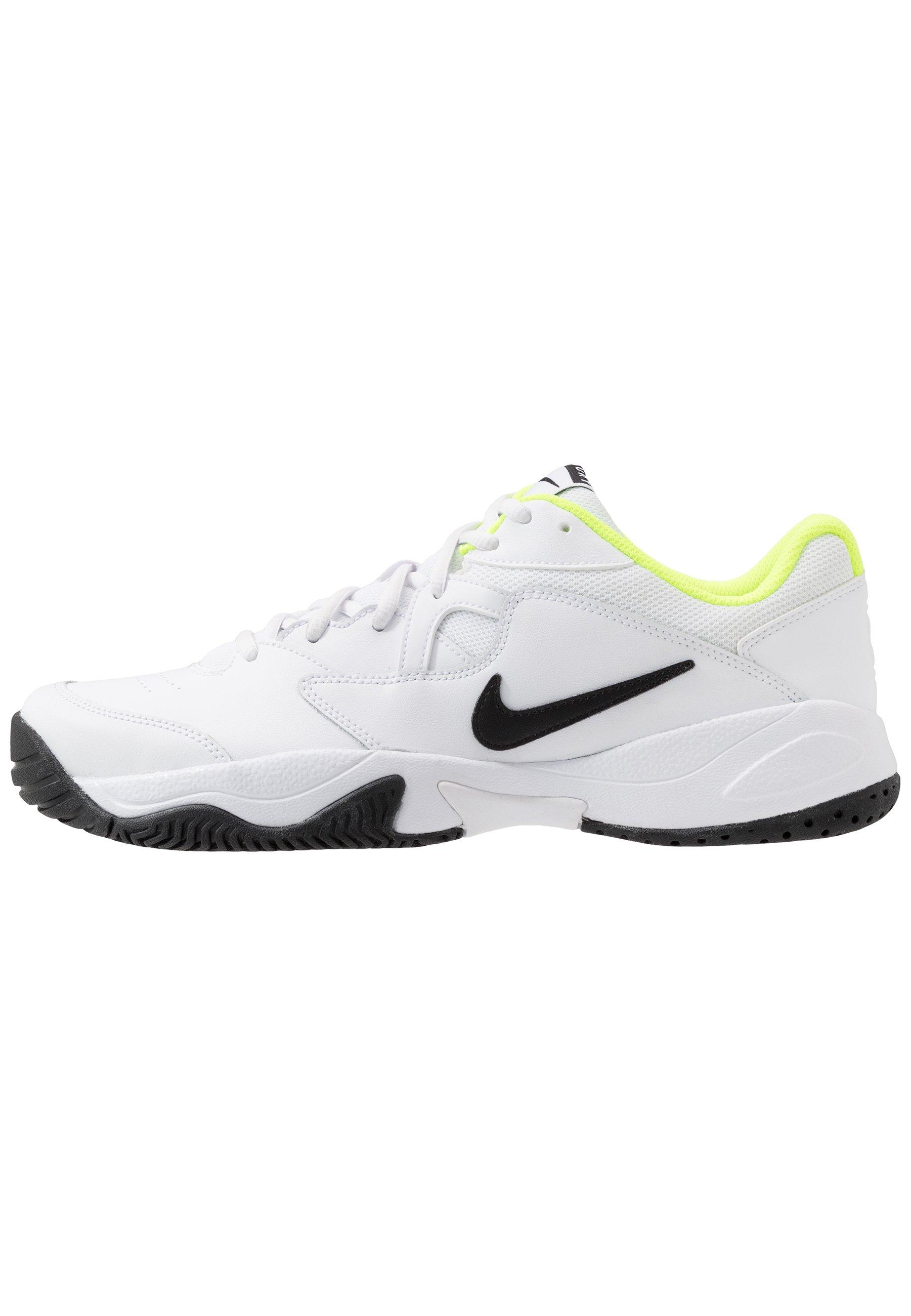 Nike Performance Court Lite 2 - Kengät Kaikille Alustoille White/black/volt