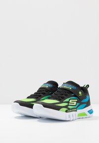 Skechers - FLEX-GLOW - Trainers - black/blue/lime - 2