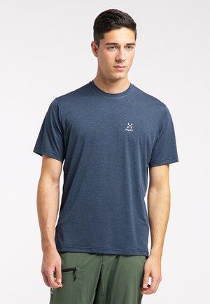 Print T-shirt - tarn blue