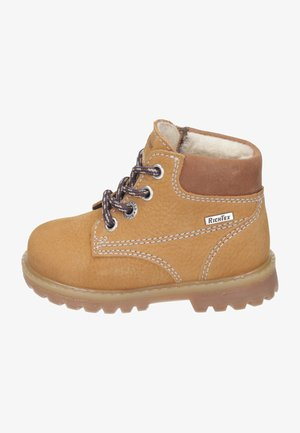 Lace-up ankle boots - curry/cognac