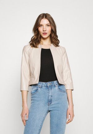 ONLKIERA JACKET - Faux leather jacket - pumice stone