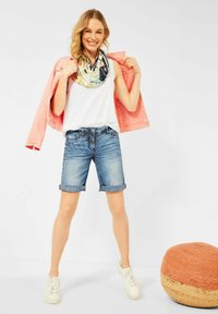 Cecil - Jeansshorts - mid blue wash - 1