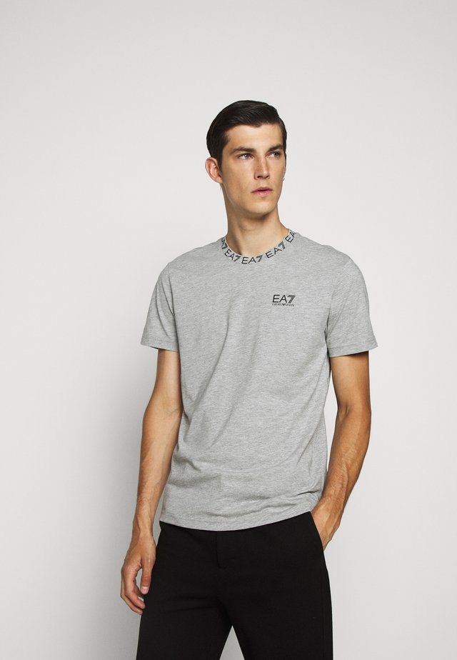 TEE COLLAR LOGO  - T-shirt imprimé - grey