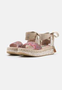 Wonders Green - Platform sandals - tonga pink - 2