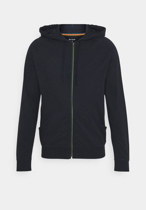 MEN HOODIE TAPE ZIP - Cardigan - dark blue