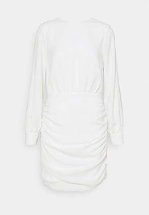 OPEN BACK RUCHE DRESS - Koktejlové šaty/ šaty na párty - offwhite