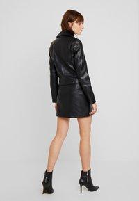 Vero Moda - VMCOOL SHORT COATED JACKET - Faux leather jacket - black - 2