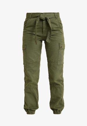 SAN FRAN SELF BELT JOGGER - Kalhoty - dark khaki