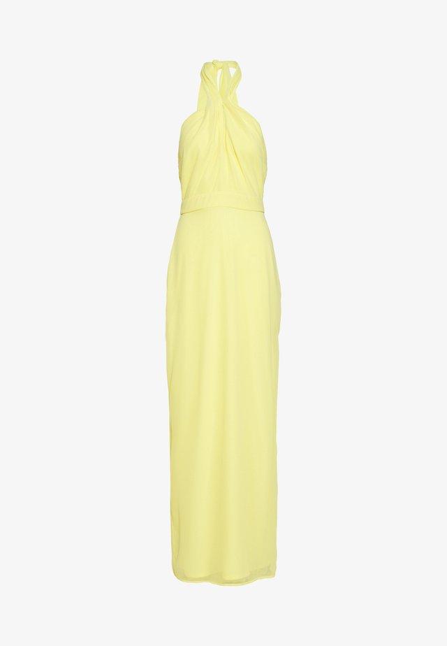YOU FINE HALTERNECK GOWN - Vestido de fiesta - light yellow