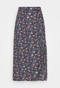 Hollister Co. - CHAIN CINCH MIDI - A-line skirt - blue - 5