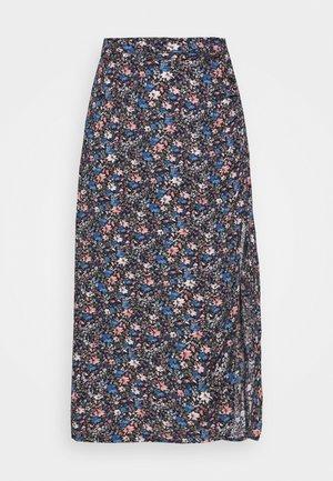 CHAIN CINCH MIDI - Áčková sukně - blue