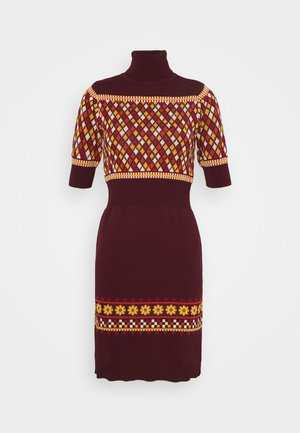 TURTLENECK DRESS - Jumper dress - bordeaux