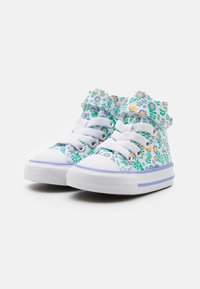 Converse - CHUCK TAYLOR ALL STAR - High-top trainers - white/twilight pulse/citron pulse - 1