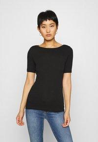 Marc O'Polo - SHORT SLEEVE BOAT NECK - Basic T-shirt - black - 0