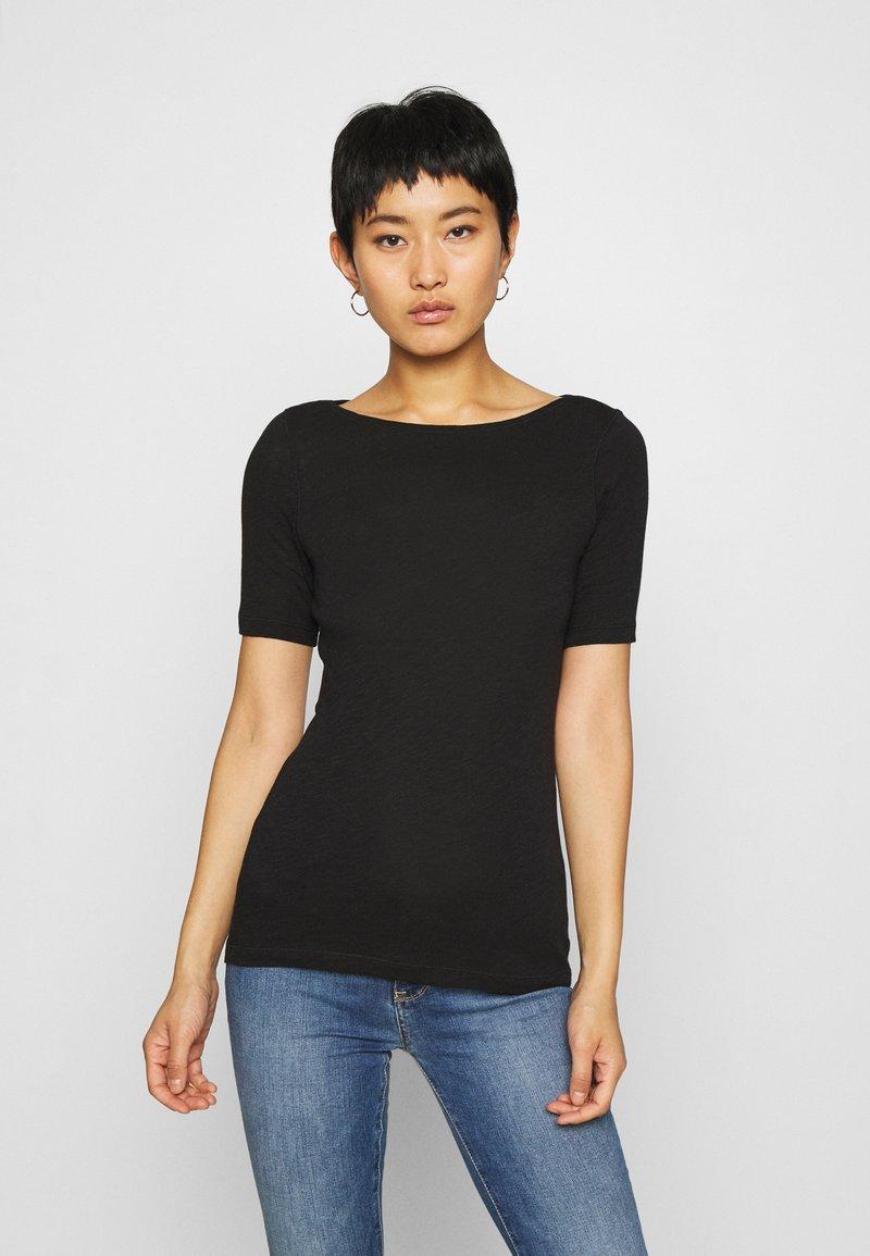 Marc O'Polo - SHORT SLEEVE BOAT NECK - Basic T-shirt - black