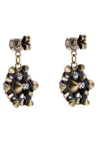 Konplott - Earrings - black/antique brass - 2