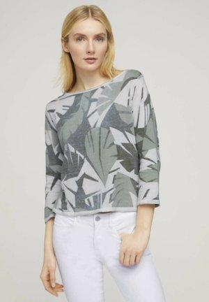 Sweter - green botanical design