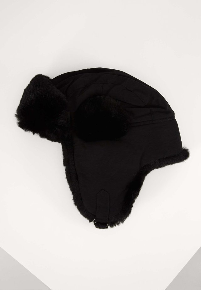TRAPPER HAT - Bonnet - black