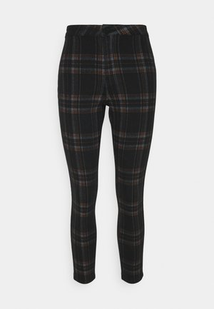 VICE CHECKED HIGHWAISTED - Trousers - black