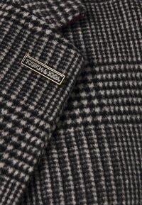 Scotch & Soda - CLASSIC - Classic coat - black/white - 3