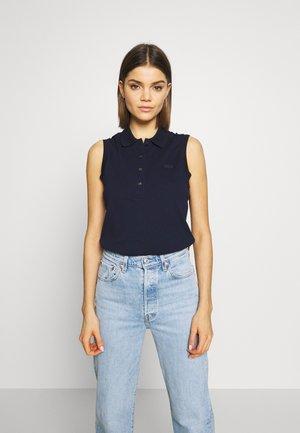 SLEEVELESS BASIC SLIM FIT - Polo shirt - navy blue