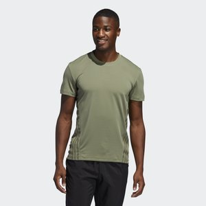 AEROREADY TRAINING SLIM SHORT SLEEVE TEE - T-shirt z nadrukiem - green