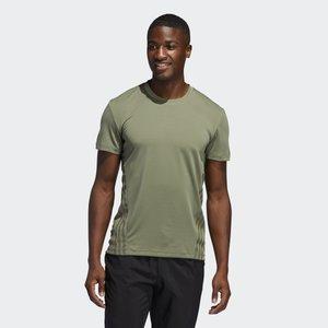 AEROREADY TRAINING SLIM SHORT SLEEVE TEE - Print T-shirt - green