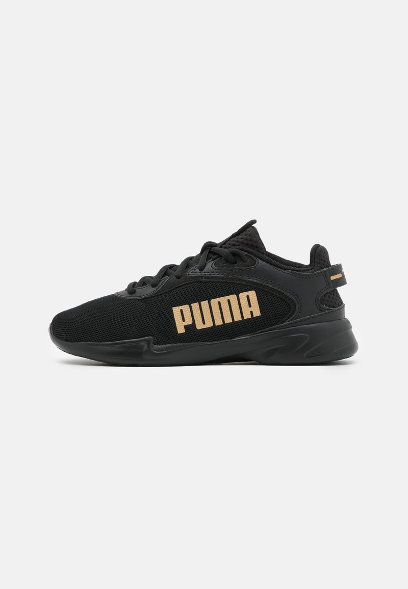 Puma - JARO FRESH - Neutral running shoes - black/team gold