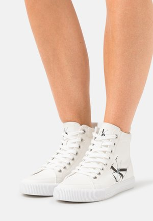 MID LACEUP - High-top trainers - triple white