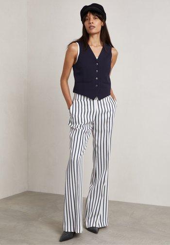 RON - Spodnie materiałowe - true navy stripe