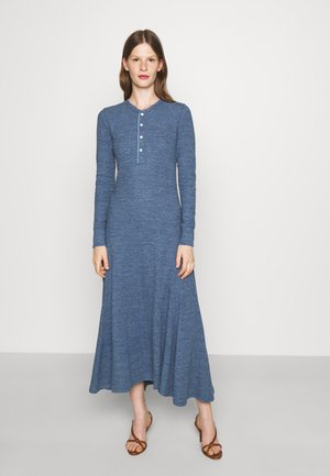 ROWIE LONG SLEEVE DAY DRESS - Day dress - river blue heather