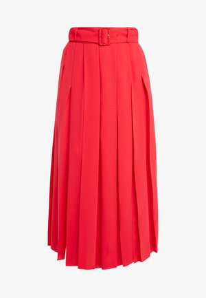HALLE - A-line skirt - bright red