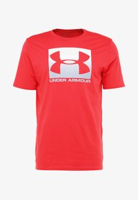 Under Armour - BOXED STYLE - Print T-shirt - red/steel - 3
