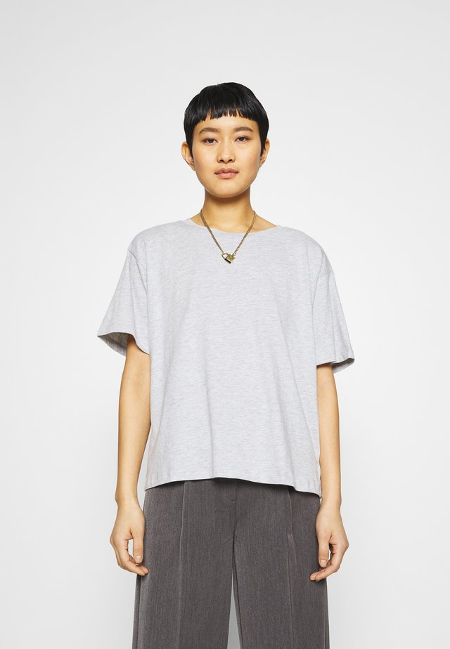 Basic T-shirt - mottled light grey