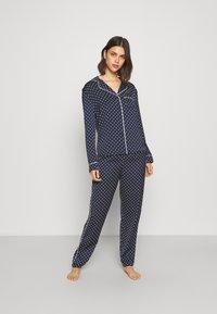 Marks & Spencer London - SPOT REVERE - Pyjama - navy - 1