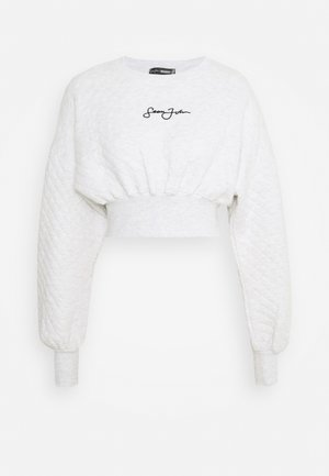 QUILTED CORSET CROP - Sweatshirt - grey marl