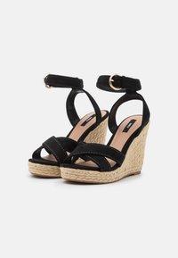 ONLY SHOES - ONLAMELIA LIFE STITCH  - Platform sandals - black - 2